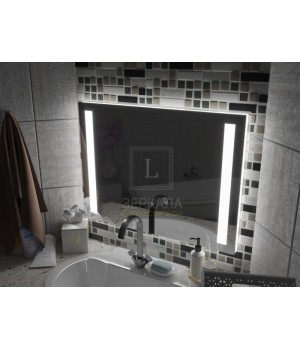 Зеркало с подсветкой для ванной комнаты Мессина 120х80см (1200х800 мм)